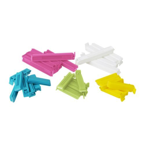 This is what I use instead of the twist ties to close Bread bags, or any other bag to close. Can be purchased at IKEA.