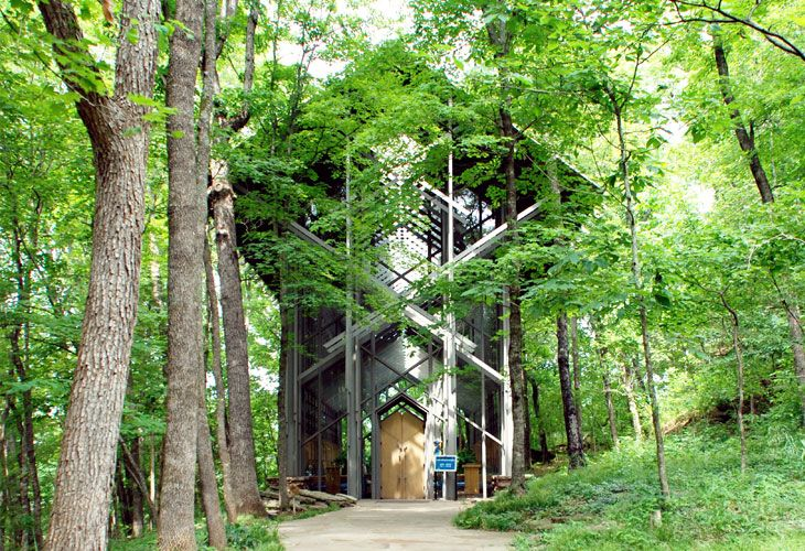 Thorncrown Chapel Organic Architecture Architecture
