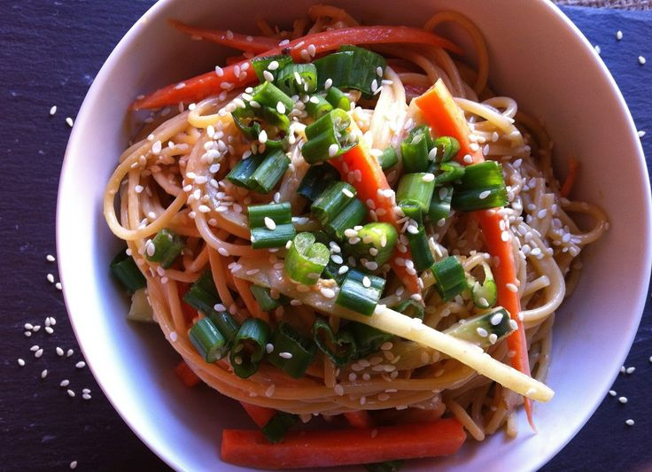 Cold Sesame Noodles-a healthy lunch option.