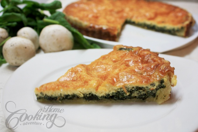 Spinach and Mushroom Quiche. I personally hate mushrooms, and will ...