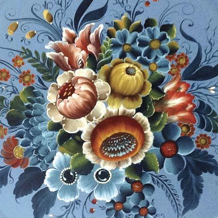 Learn norwegian rosemaling at school of the arts the northwoods