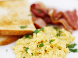 Cafe. Cream Cheese Scrambled Eggs With Spring Herbs: 6 large eggs ...