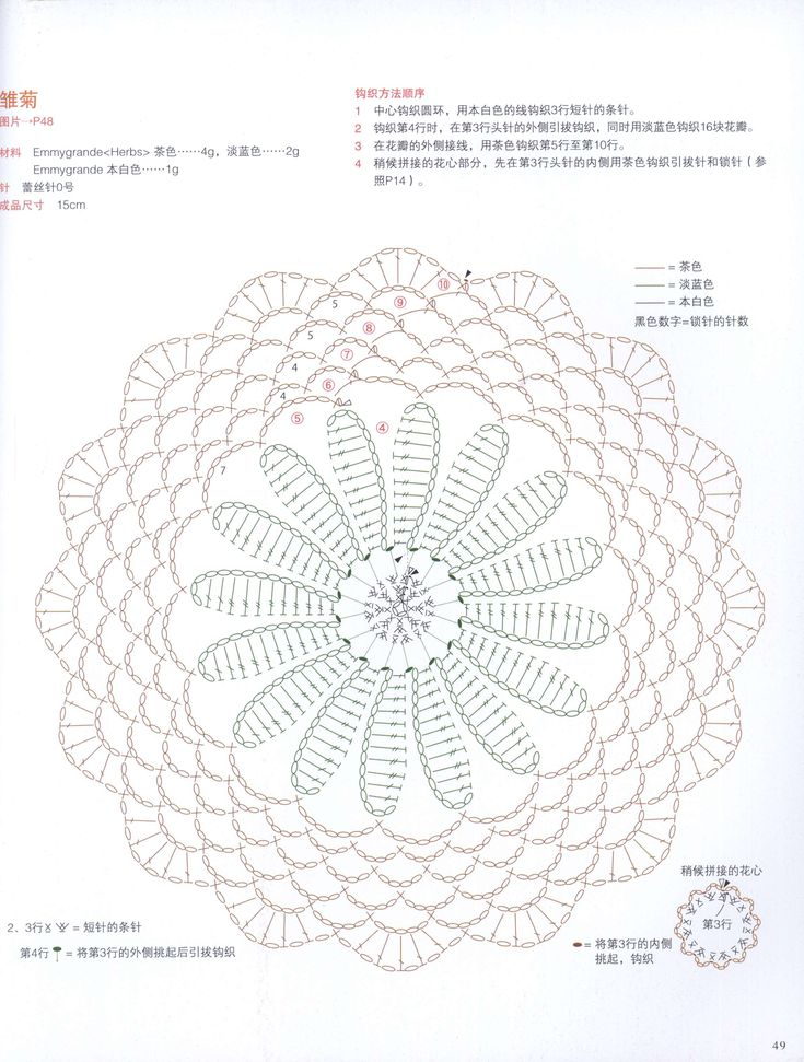 Crochet Diagram : crochet flower diagram