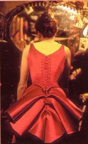 satine moulin rouge costume red dress movie. Black Bedroom Furniture Sets. Home Design Ideas