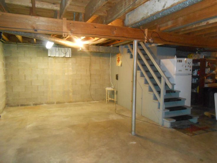 before unfinished basement basement projects pinterest