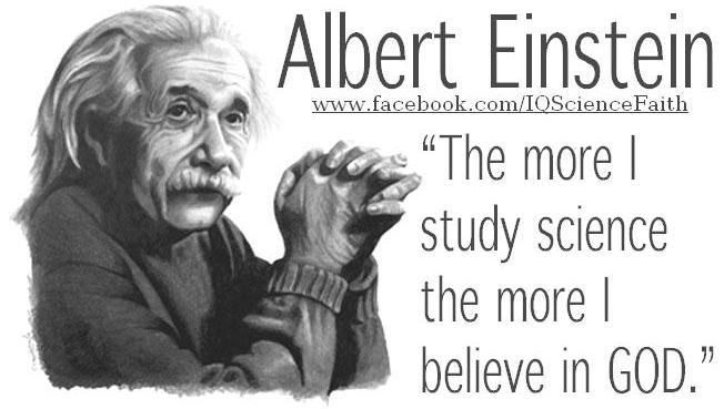 albert einstein quote the more i study science the more