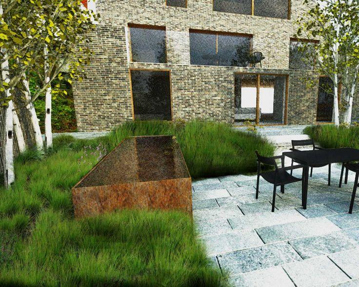 Contemporary design ogr d nowoczesny naturalny nie for Modern landscape design
