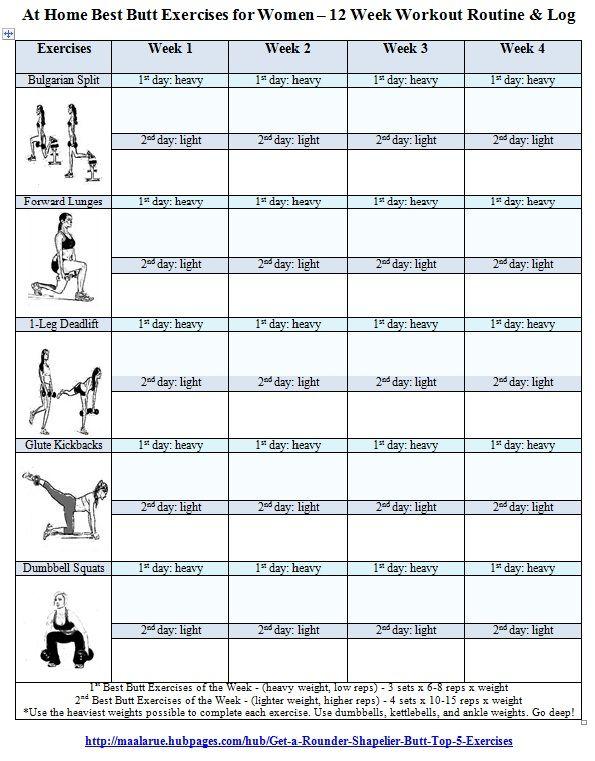 Free Printable Gym Workout Routines | Workout Log for Women - Free ...