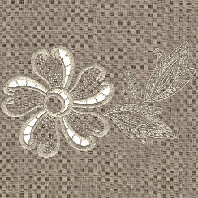 Machine embroidery cutwork design sewing and