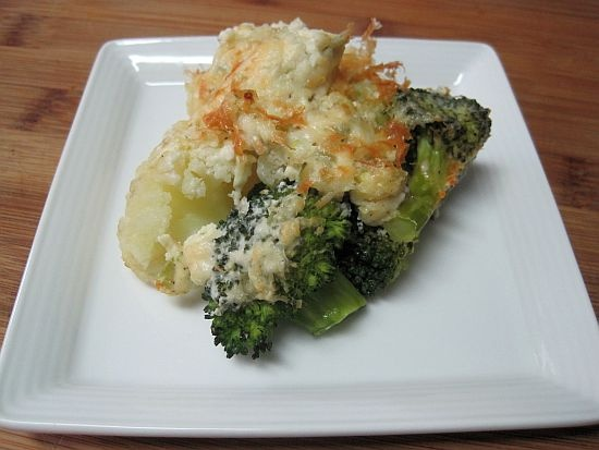 parmesan cauliflower gratin with sharp cheddar and parmesan broccoli ...