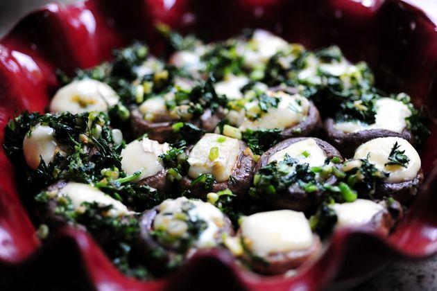 Mushrooms Stuffed with Brie | Food | Pinterest