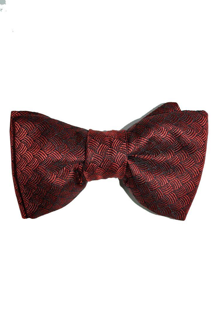 tom ford bow tie burgundy black design