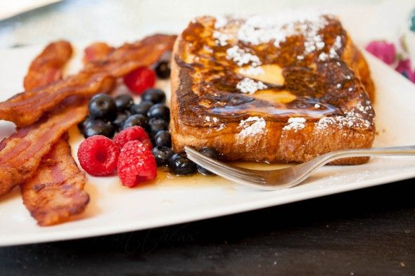 Peanut Butter Stuffed French Toast // 1/2 c PB, 10 slices brioche, 4 ...