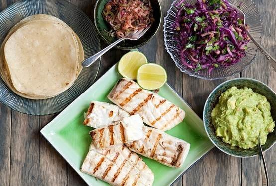Tequila lime halibut tacos | Food | Pinterest