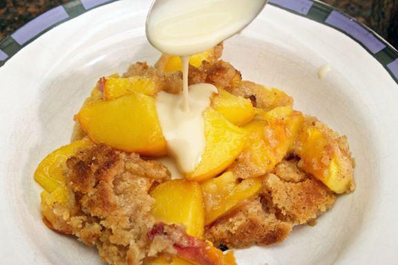 Peach Crisp with Maple Cream Sauce   Desserts   Pinterest