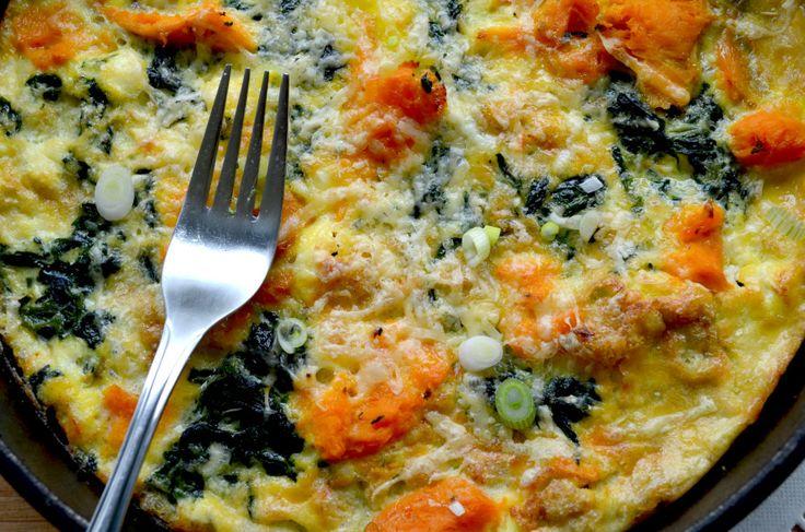 Sweet Potato & Spinach Frittata | My food blog | Pinterest