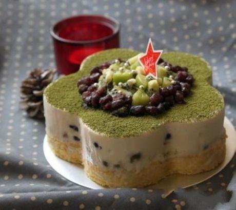Red bean matcha cheese cake | Recipes - Dessert | Pinterest