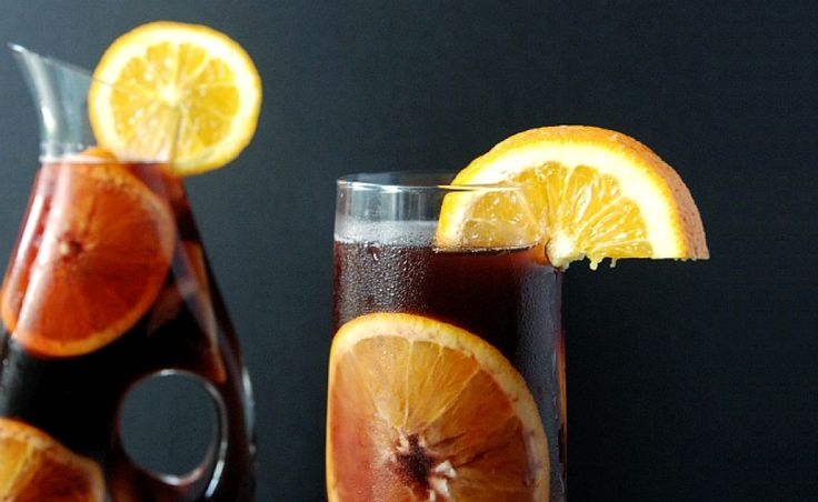 With a deep purple color and lots of aromatic fresh fruit, this Red Wine Sangria delivers big, bold flavors thanks to apple brandy.