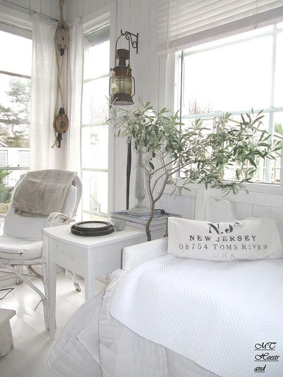 love the simplicity and style of this room.  from Inspiration in White