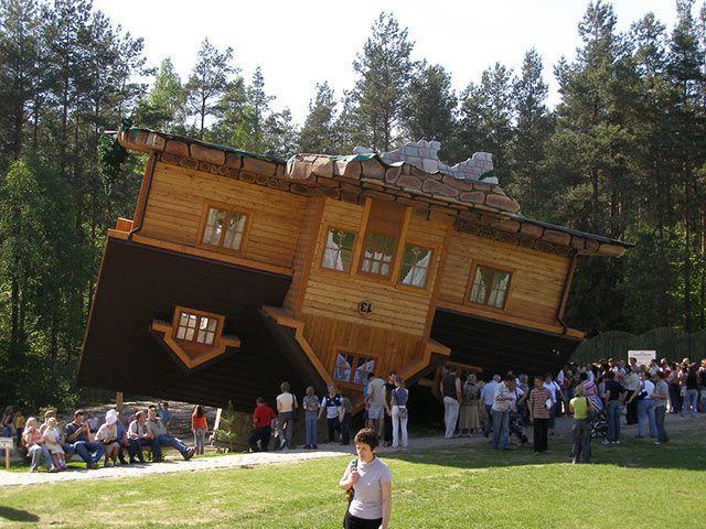 Upside Down House Szymbark Poland Architecture