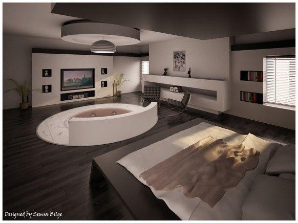 Bedroom jacuzzi bedroom designs pinterest for Best bedroom designs ever
