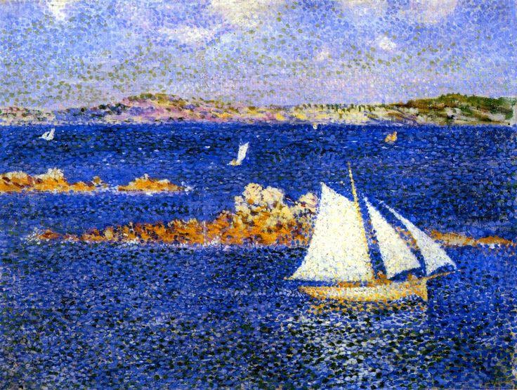 Théophile van Rysselberghe (1862 - 1926) —  Near the Rocks of Per Kiridec, Roscoff, 1889  (1100x838 )