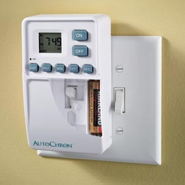 automatic wall switch timer turn any light switch on or off. Black Bedroom Furniture Sets. Home Design Ideas