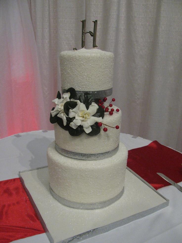 Crystal Glitter Wedding Cake FMS Cakes Pinterest