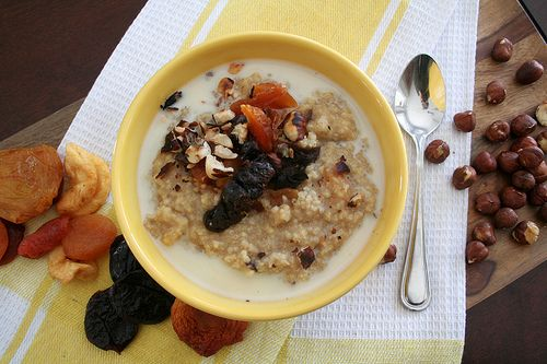 Oatmeal with Dried Fruit and Nuts | Staying Healthy: Breakfast | Pint ...