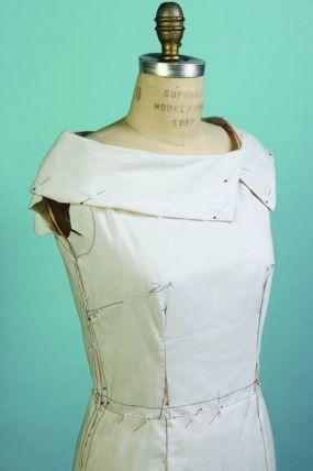 sewing a muslin test garment.