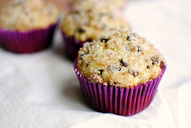 Sugar Crusted Chocolate Chip Muffins - Ok, so chocolate chip muffins ...