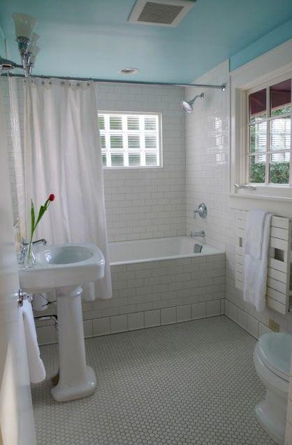 Sweet Bathroom And Painted Ceiling Beautiful Bathrooms