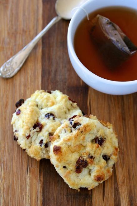 white chocolate & dried cherry scones | Brunch-y Goodness | Pinterest