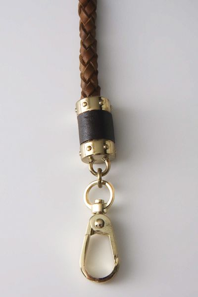 braided belt with black and brass