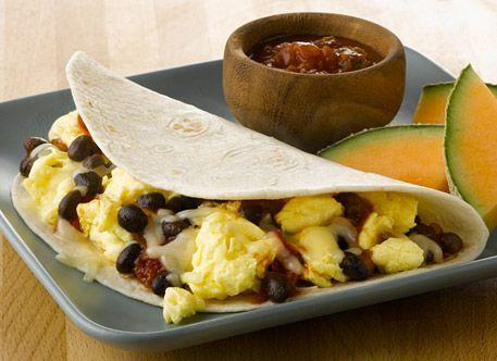 AllWhites and Better'n Eggs: Black Bean Breakfast Burrito Recipe