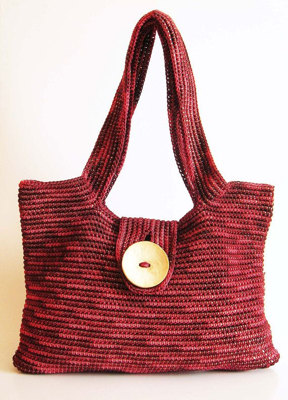 Tapestry Crochet Bag : Tapestry crochet shoulder bag pattern. Crocheted in the round in one ...