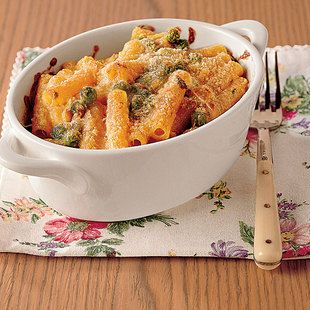 Baked Pasta With Pancetta And Peas. Pasta al Forno con Pancetta e ...