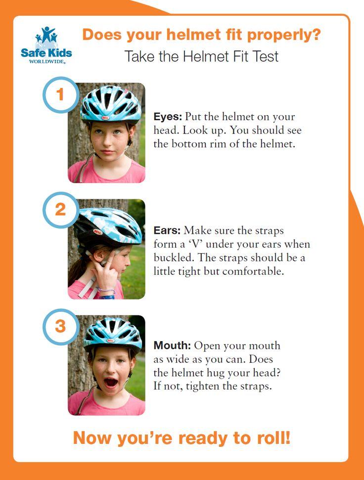 Bike Helmet Fit Test #bike #helmet #safety #safekids #bikesafety #kids