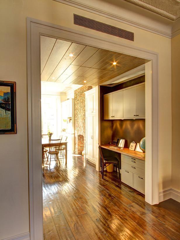 Kitchen office in glam brownstone kitchen from hgtv for for Brownstone kitchen ideas