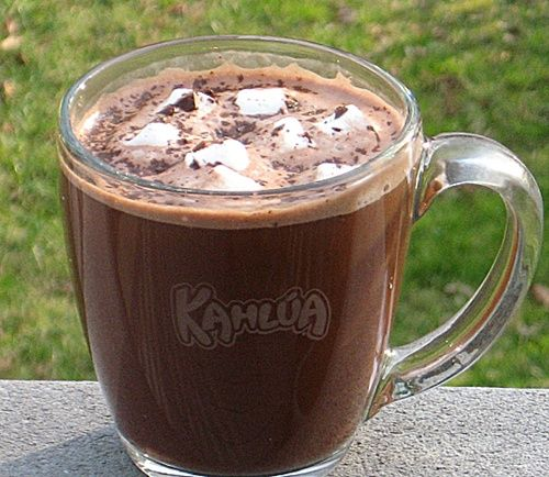 Hot Mint Cocoa Toddy (1 oz. Kahlua 1 oz. Peppermint Schnapps Cocoa mix ...