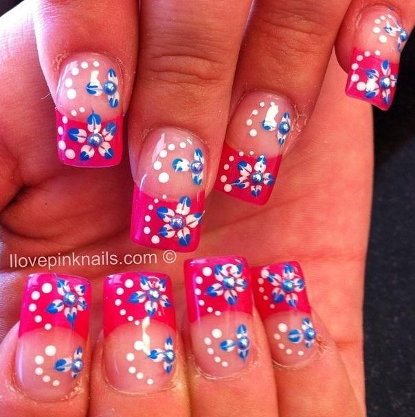 3d flower nails | Nail Art | Pinterest