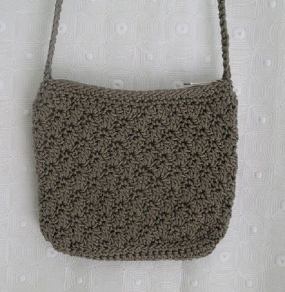 Crochet Bag Strap : Khaki Crochet Should Strap Purse Bag, Womens Bag, Teen Girls Bag, Cro ...