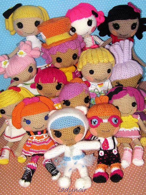 вязаные куклы Lalaloopsy по Ladynoir63 (Flickr)