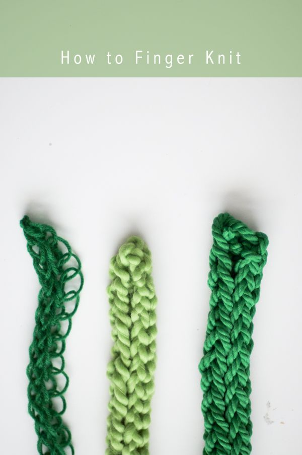 Finger knitting, this looks like so much fun! I cant wait for spring ...
