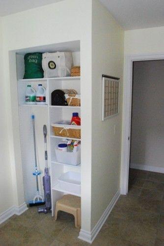 Hall storage closet