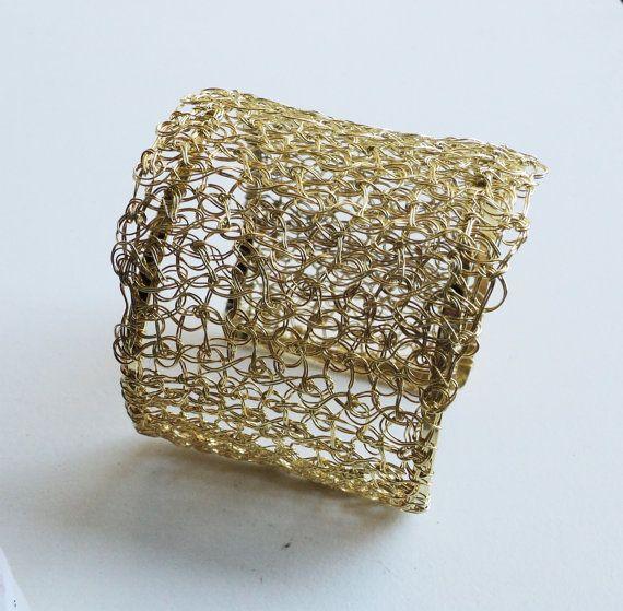 Elegant 14k gold filled hand woven bracelet by adrianalauramendez, $215.00