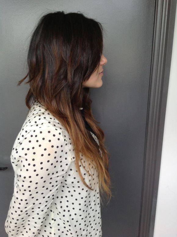 Brunette hair color ideas for teen - cute hairstyles for long hair.