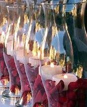Great filler idea...rose petals!
