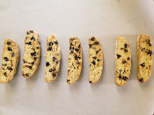 biscotti with orange, almonds, and chocolate chips - recipe