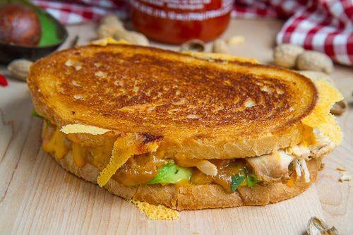Spicy Peanut Chicken Grilled Cheese Sandwich (aka The Chicken Satay ...